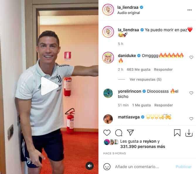 La Liendra fue sorprendido con regalo de Cristiano Ronaldo