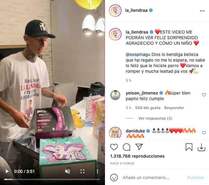 La Liendra fue sorprendido con regalo de cumpleaños de Cristiano Ronaldo
