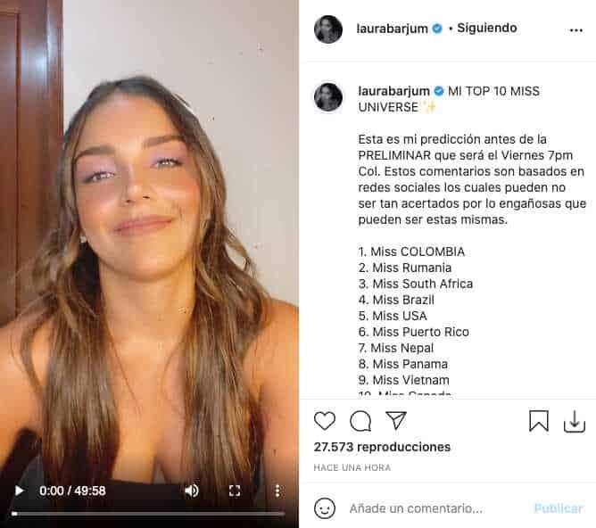 Miss Universo 2021: Laura Barjum dio su top 10 antes de la preliminar