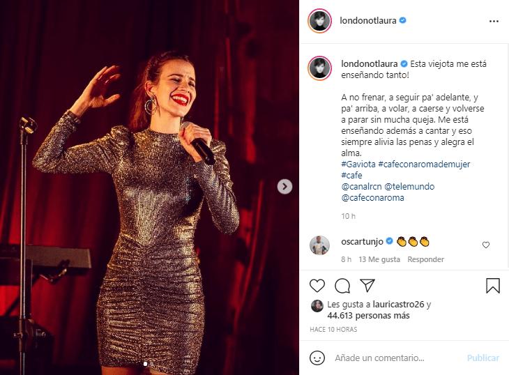 Laura interpreta a Gaviota en Café