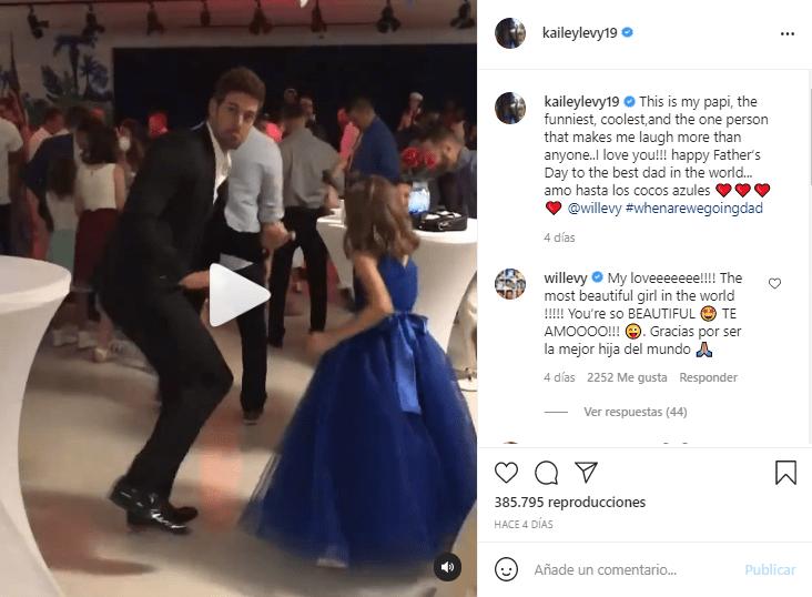 William Levy protagoniza baile con su hija