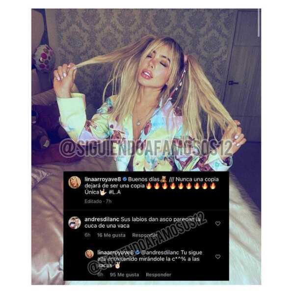 Lina Arroyave respondió a ofensivo comentario sobre sus labios