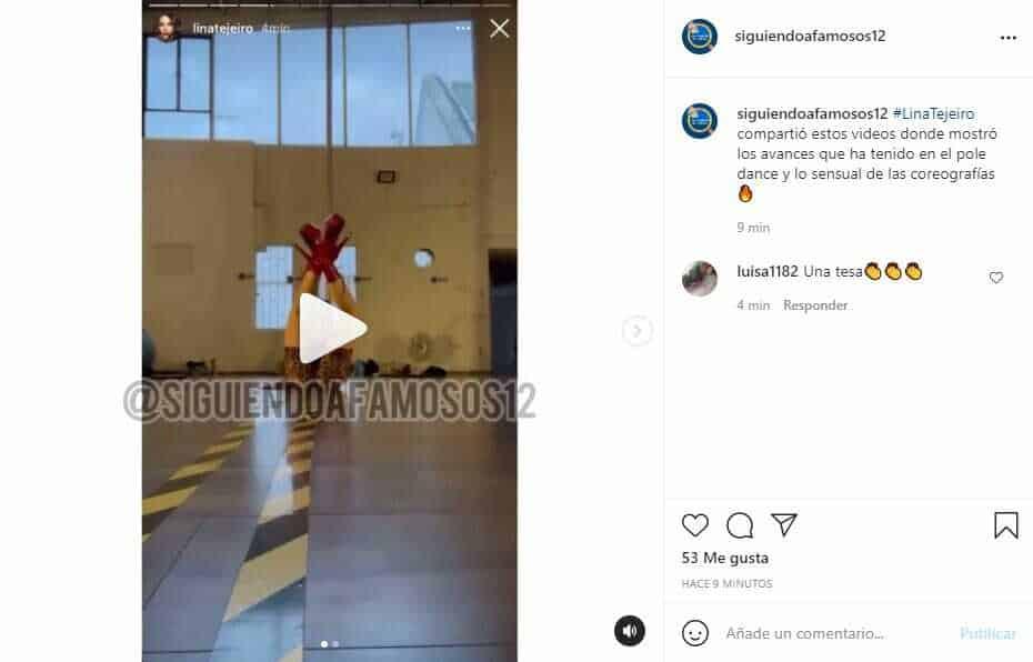 Lina Tejeiro eleva la temperatura en Instagram con nuevos bailes en pole dance