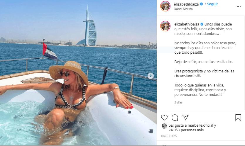 Elizabeth Loaiza De vacaciones Lujosas