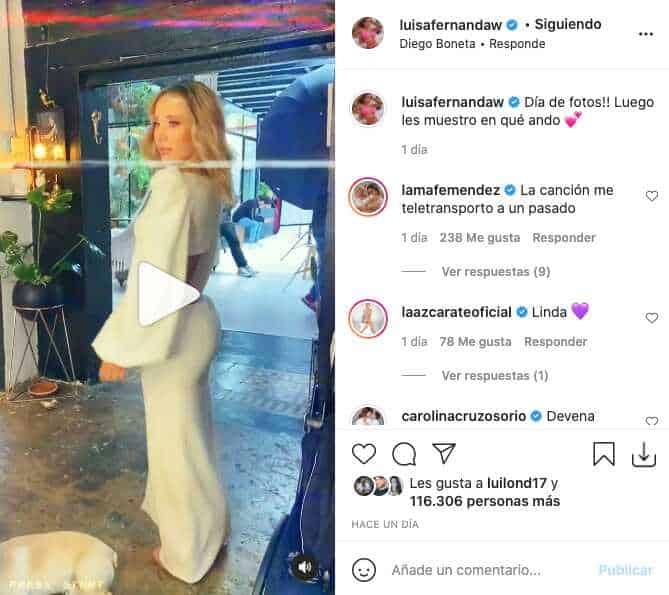 Luisa Fernanda W presumió sus piernas y abdomen con atractivo vestido