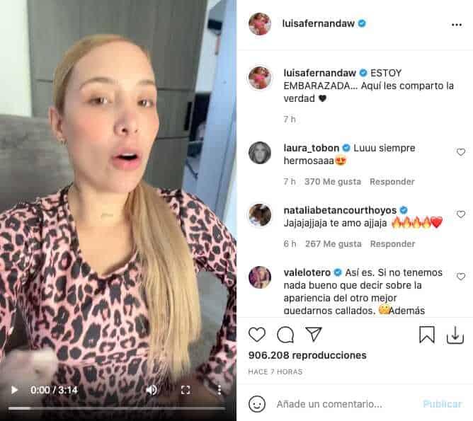"""""""Aquí les comparto la verdad"""", el video de Luisa Fernanda W sobre posible embarazo"""