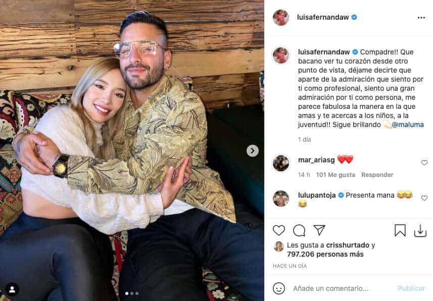 Luisa Fernanda W enamoró con tiernas fotos junto a Maluma