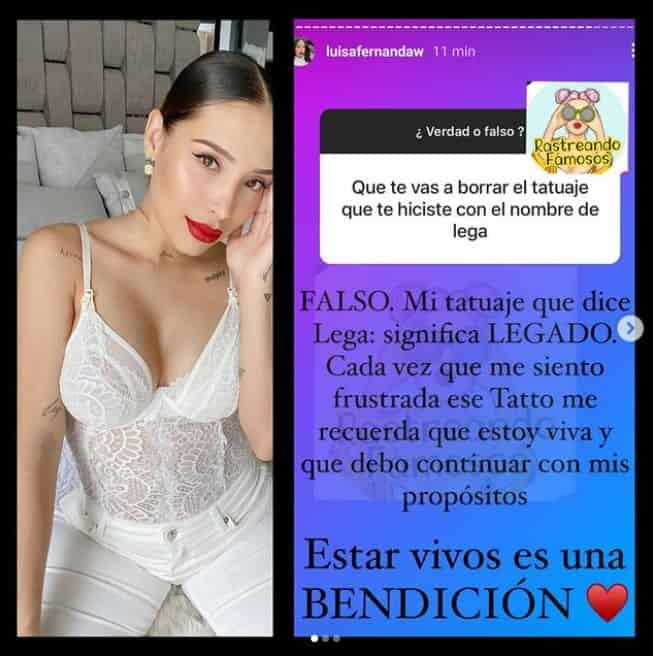 Luisa Fernanda W habla del tatuaje de Legarda