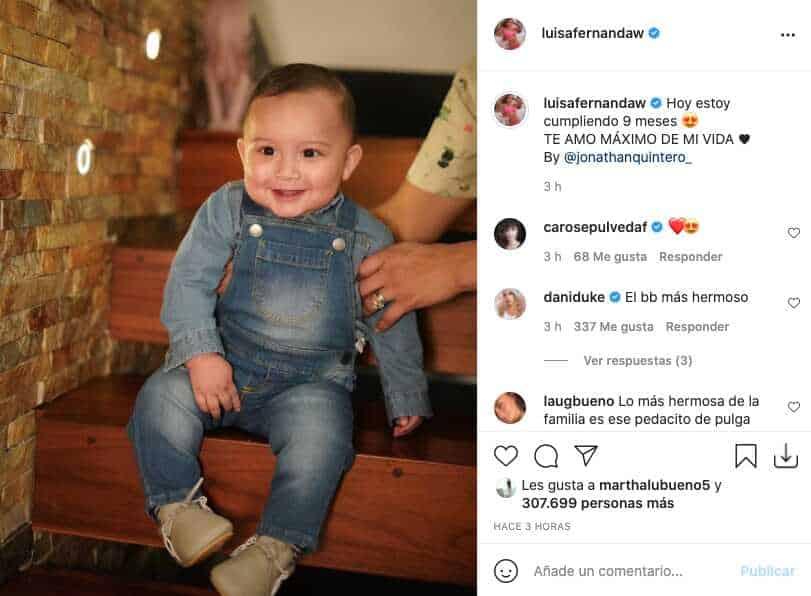 Luisa Fernanda W y Pipe Bueno conmemoraron los 9 meses de Máximo con tiernas fotos de él