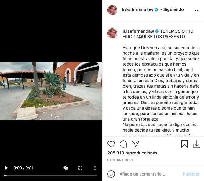 """Luisa Fernanda W presentó a su """"segundo hijo"""" junto a Pipe Bueno"""