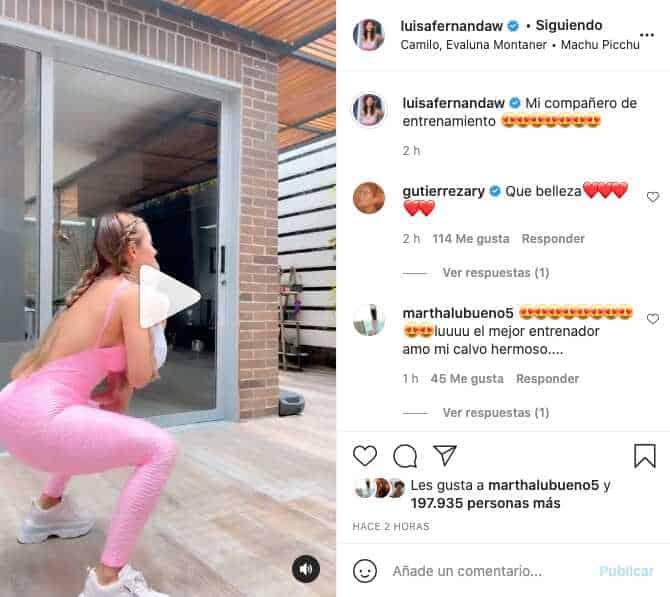 Luisa Fernanda W se arriesgó a entrenar con Máximo y así le fue
