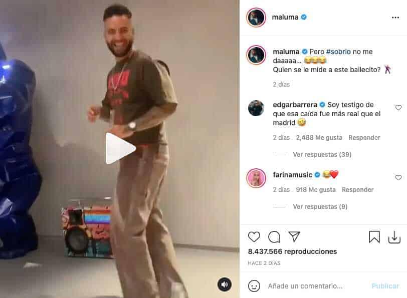Maluma hace divertido baile con un final inesperado