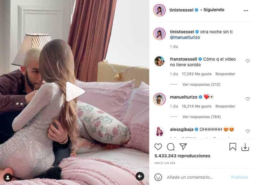 Tini Stoessel y Manuel Turizo sacaron chispas con candente video