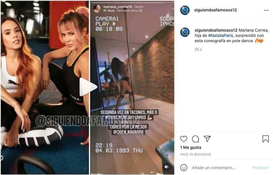 Hija de Natalia París enamora con ardiente coreografía en pole dance
