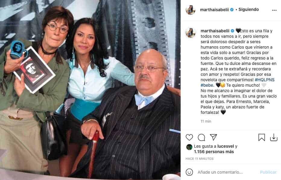 Martha Isabel Bolaños reacciona tras la partida de El Gordo Benjumea