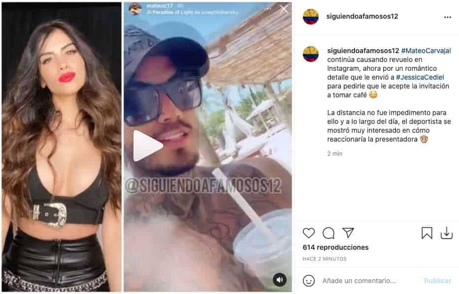 Mateo Carvajal le dio romántico obsequio a Jessica Cediel
