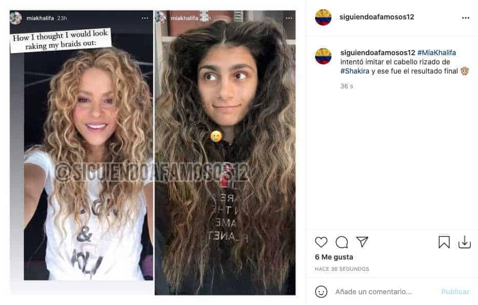 Mía Khalifa quiso imitar a Shakira en su 'look' y este fue el resultado