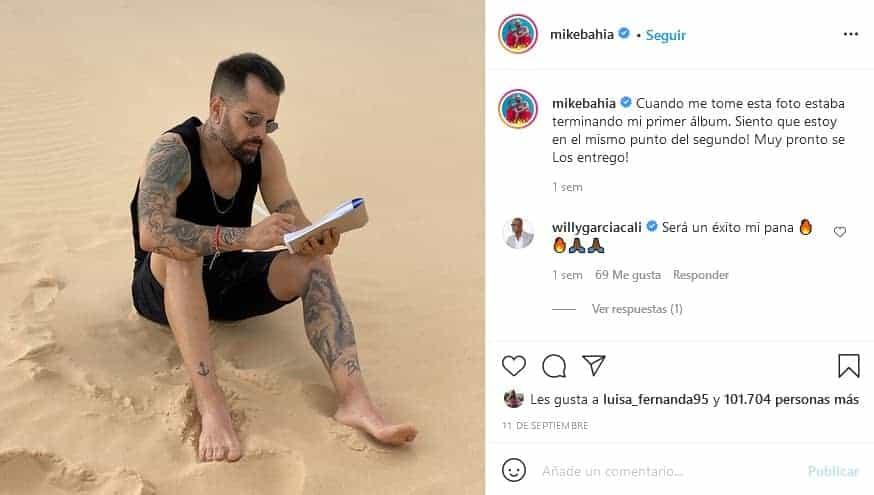 Mike Bahía y sus tatuajes