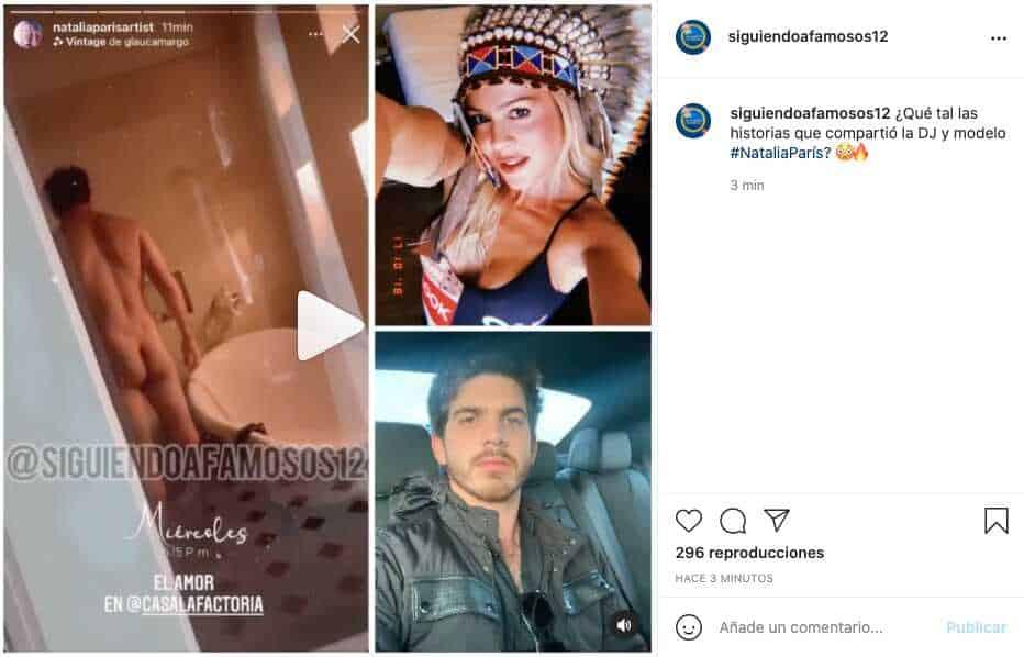 Natalia París compartió sugerente video junto a su novio