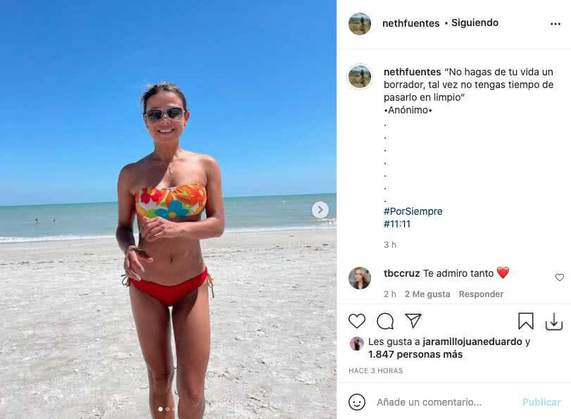 Neth Fuentes, esposa de Jota Mario, lució sus tonificadas curvas en Miami