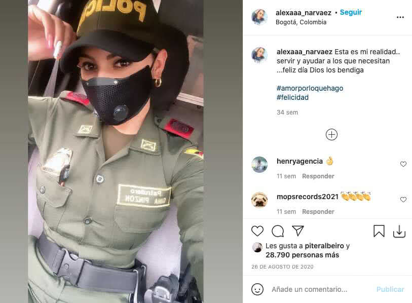 Nicky Jam y Piter Albeiro quedaron cautivados con policía colombiana