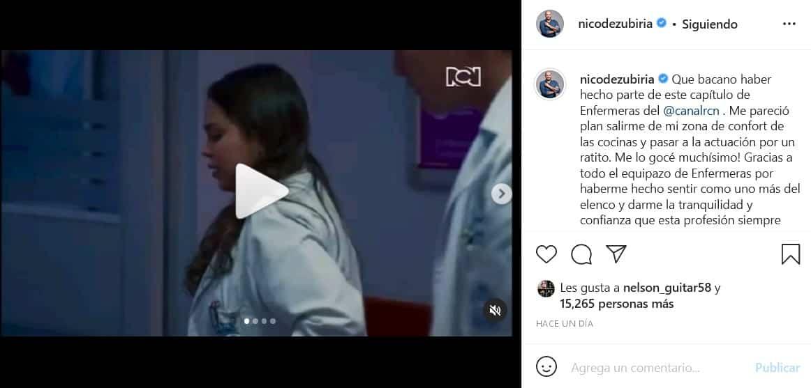 Nicolás de Zubiría en Enfermeras