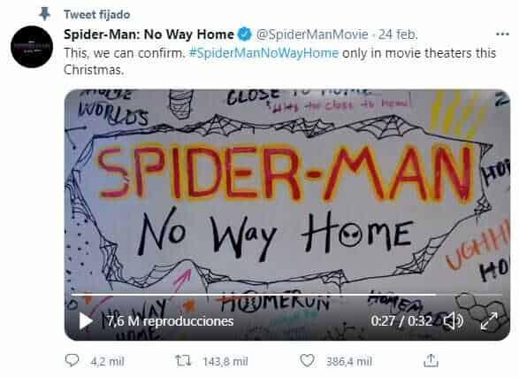 Nuevo nombre película Spider-Man 3