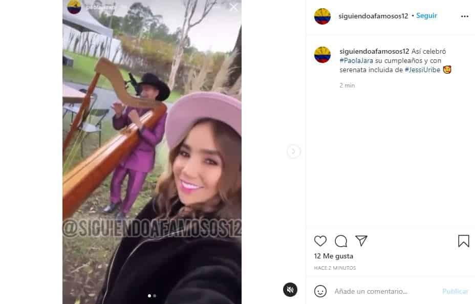 Paola Jara celebró su cumpleaños con concierto de Jessi Uribe