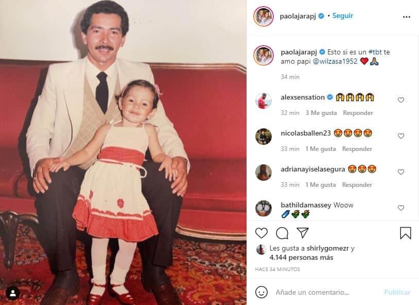 Paola Jara mira al pasado y publica tierna foto de su niñez junto a su papá