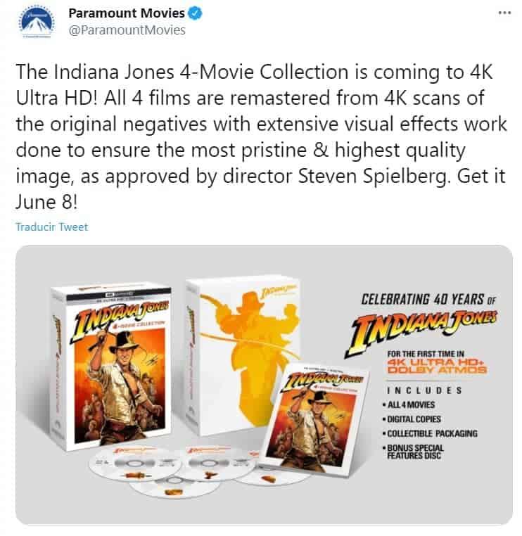 Paramount Movies anunció la venta de la colección de Indiana Jones