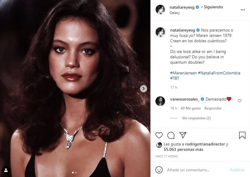 Natalia Reyes sorprendió al compararse físicamente con actriz estadounidense