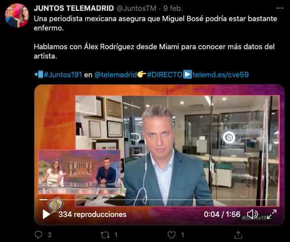 """Periodista mexicano asegura que Miguel Bosé está """"bastante enfermo"""""""
