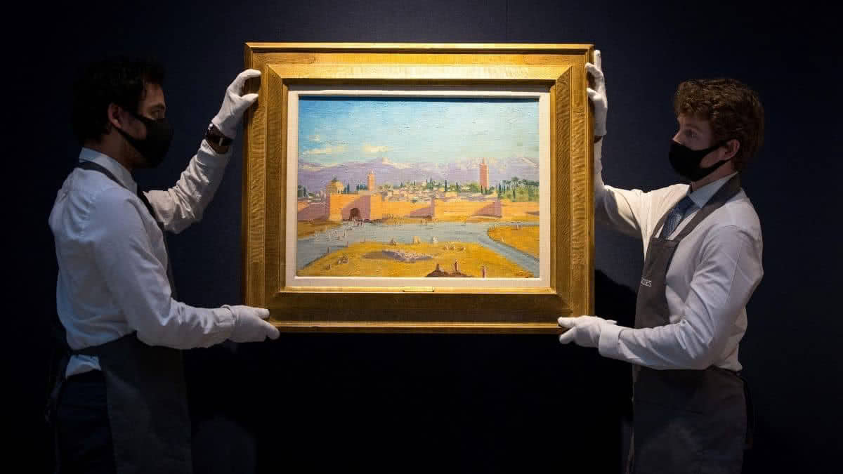 El cuadro fue pintado por Winston Churchill en 1943.