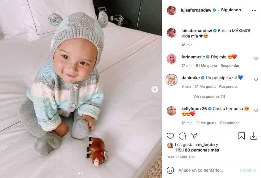 Hijo de Luisa W y Pipe Bueno se lleva cientos de elogios por tiernas fotos
