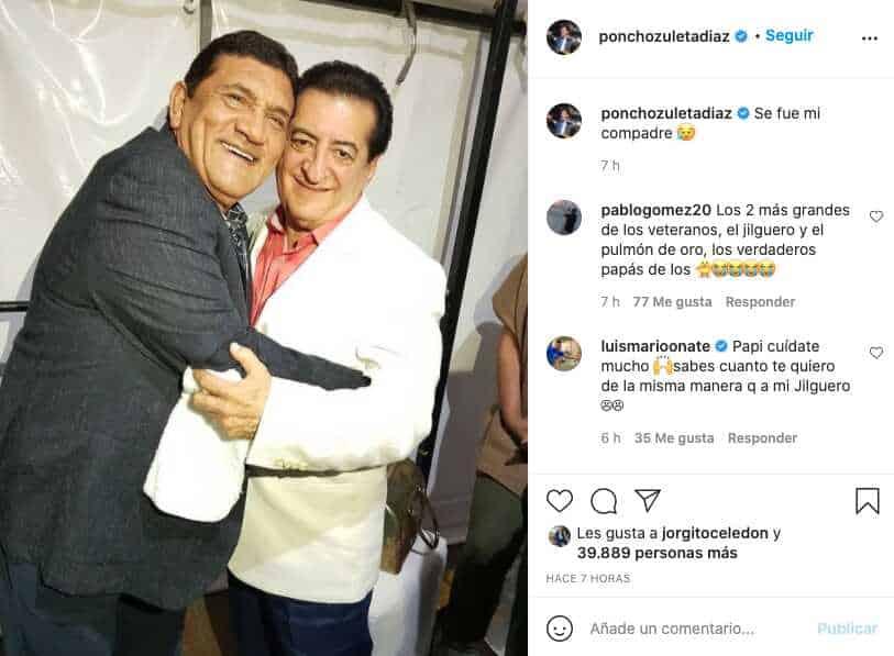 Despedida de Poncho Zuleta a Jorge Oñate