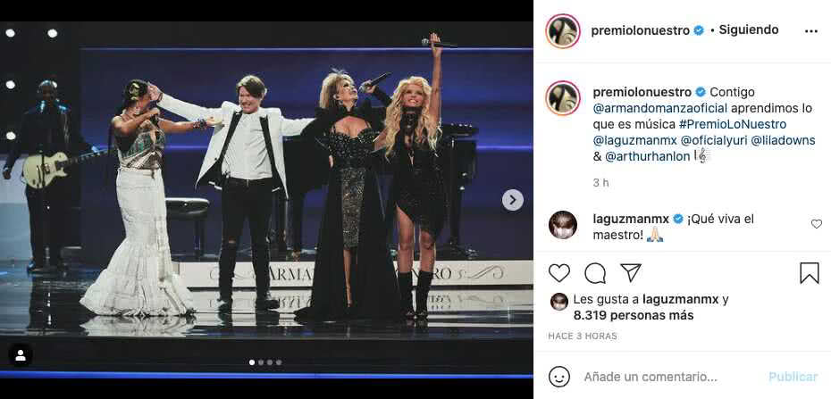 Homenaje a Armando Manzanero en los Premios Lo Nuestro 2021