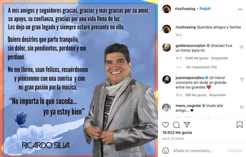 A sus 67 años, fallece el actor de doblaje Ricardo Silva