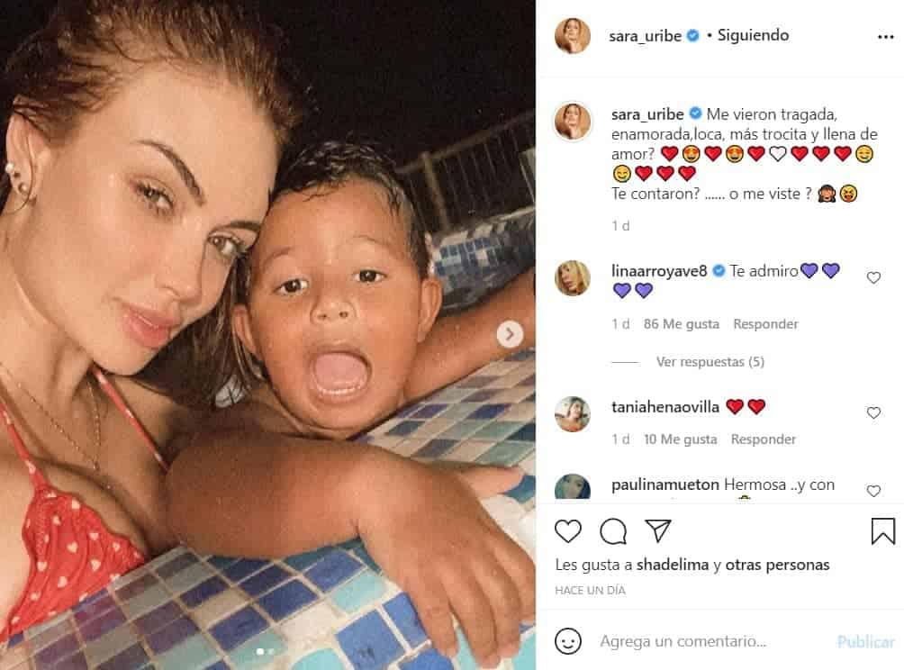 Sara Uribe y su hijo Jacobo