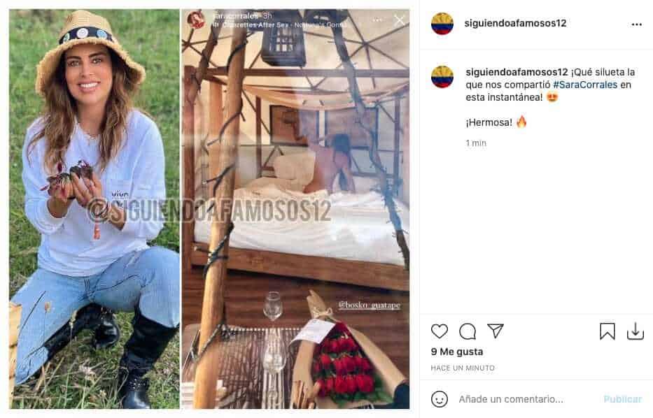 Sara Corrales posó sin ropa desde su cama y enamoró a sus fans