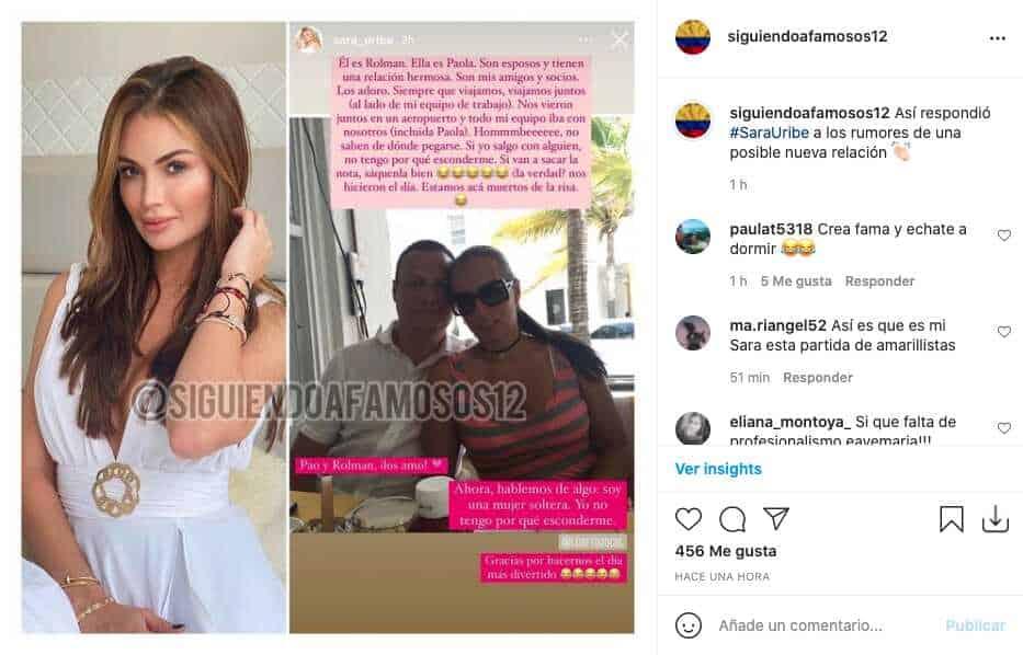 Sara Uribe aclaró rumores de su supuesto nuevo novio