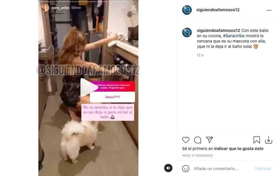 Sara Uribe movió sus caderas con pijama de encaje y enamoró a sus fans