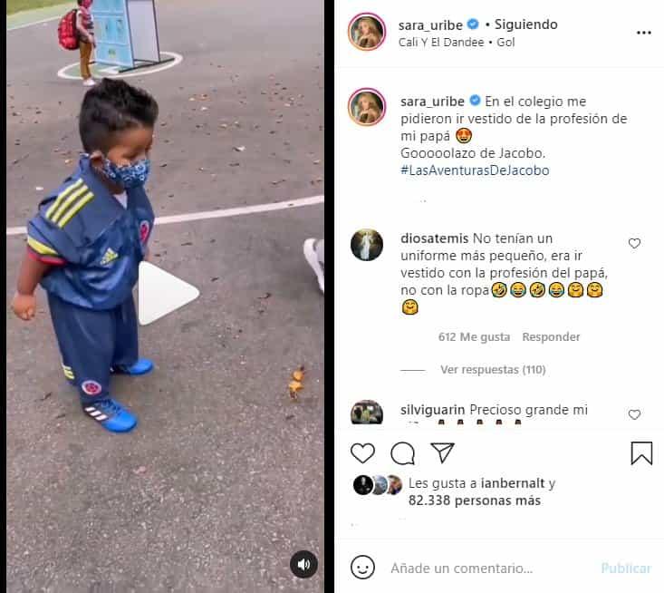sara uribe viste a su hijo de fredy guarin