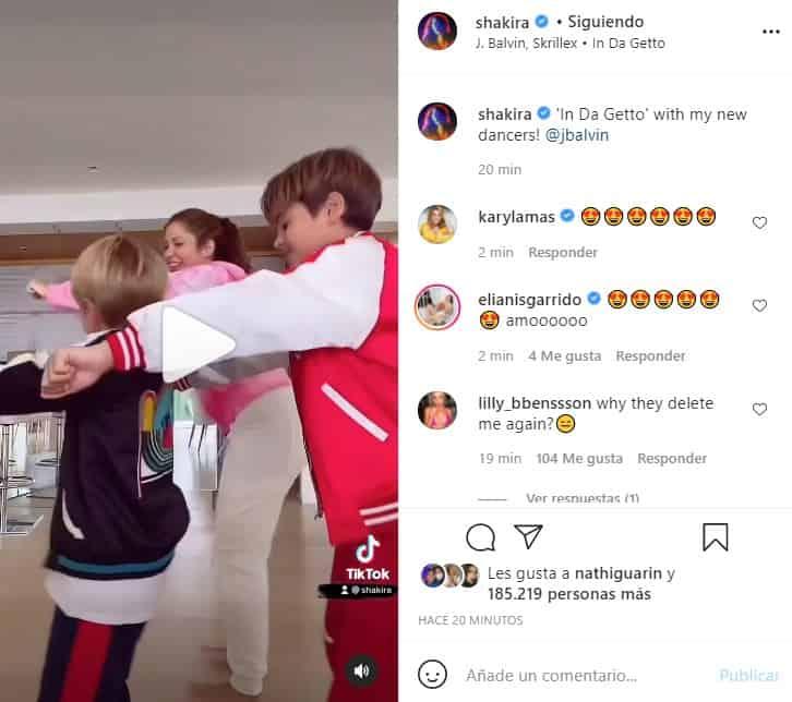 shakira bailando con sus hijos
