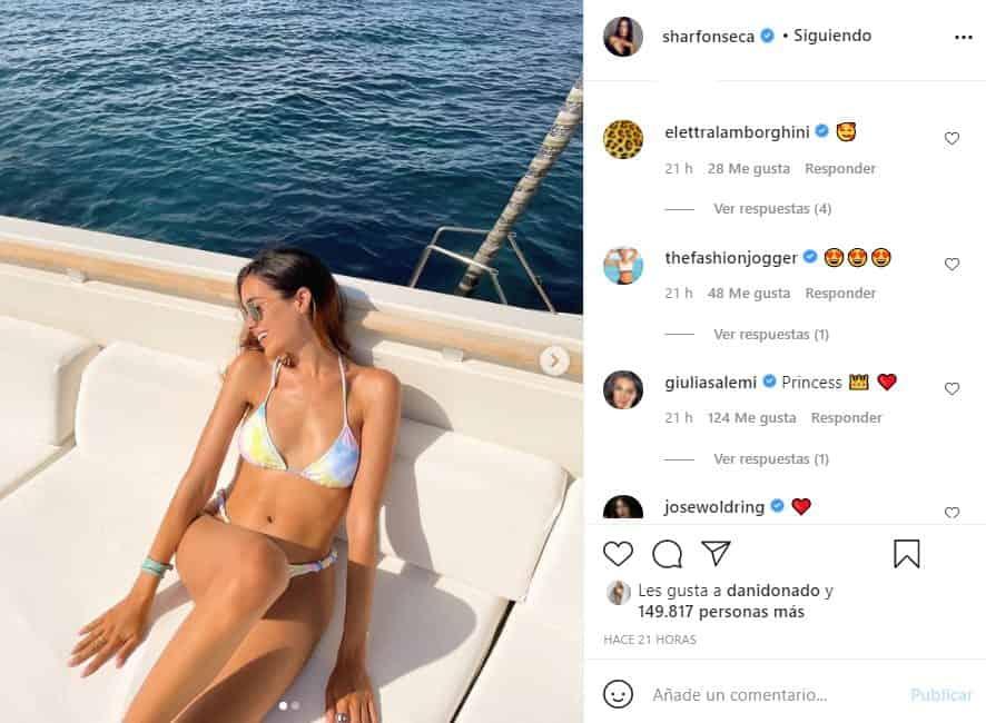 sharon fonseca en bikini posparto