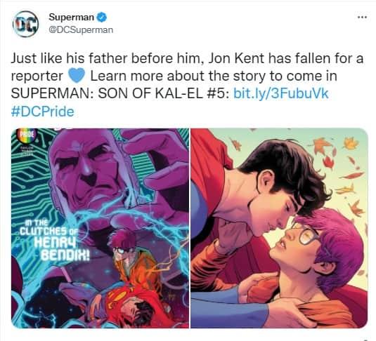 Supermán se declara bisexual y presenta a su nuevo novio