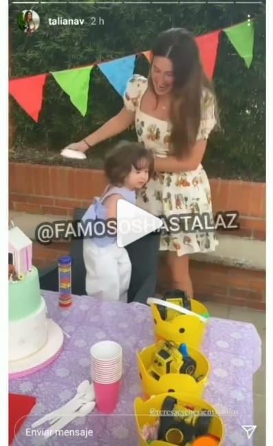 taliana vargas le celebro el cumpleaños a su hija alicia