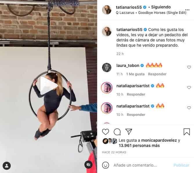 Tatiana De Los Ríos posó como toda una deportista con ajustada prenda