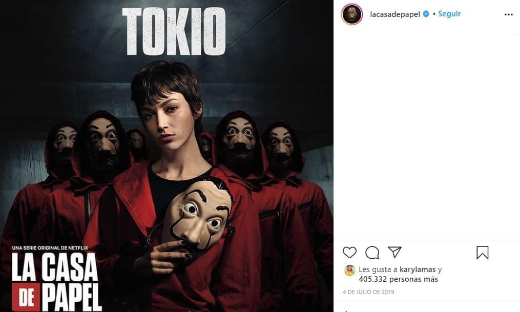 tokio muere en la quinta temporada de la casa de papel