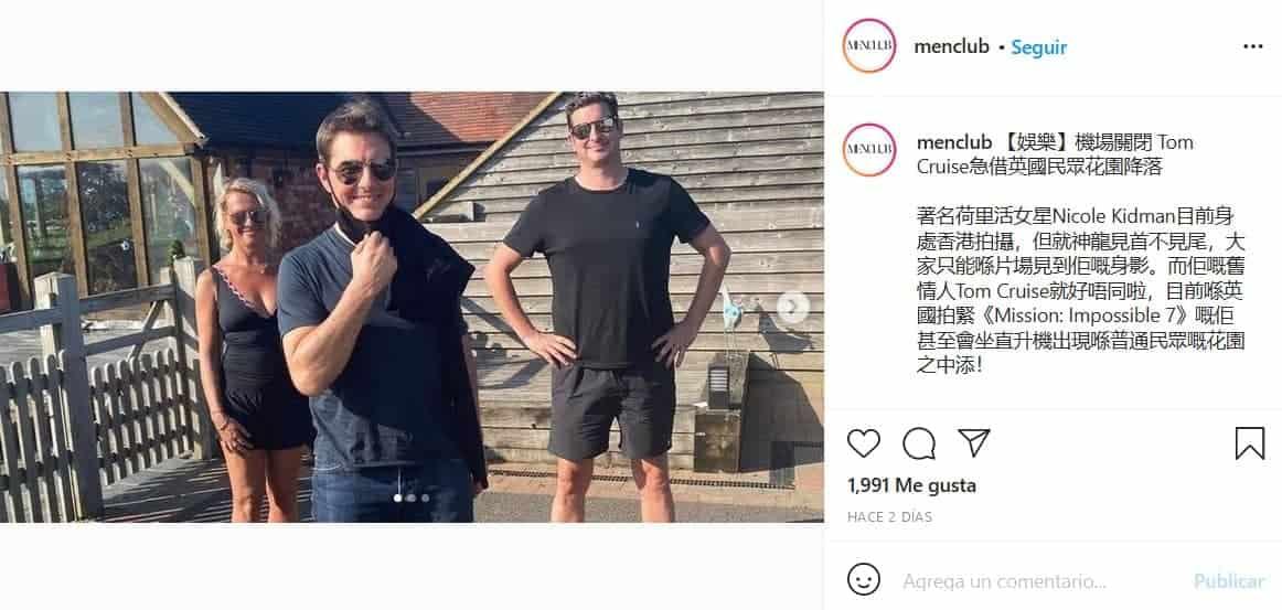 Tom Cruise aterrizó su helicóptero en la casa de una familia