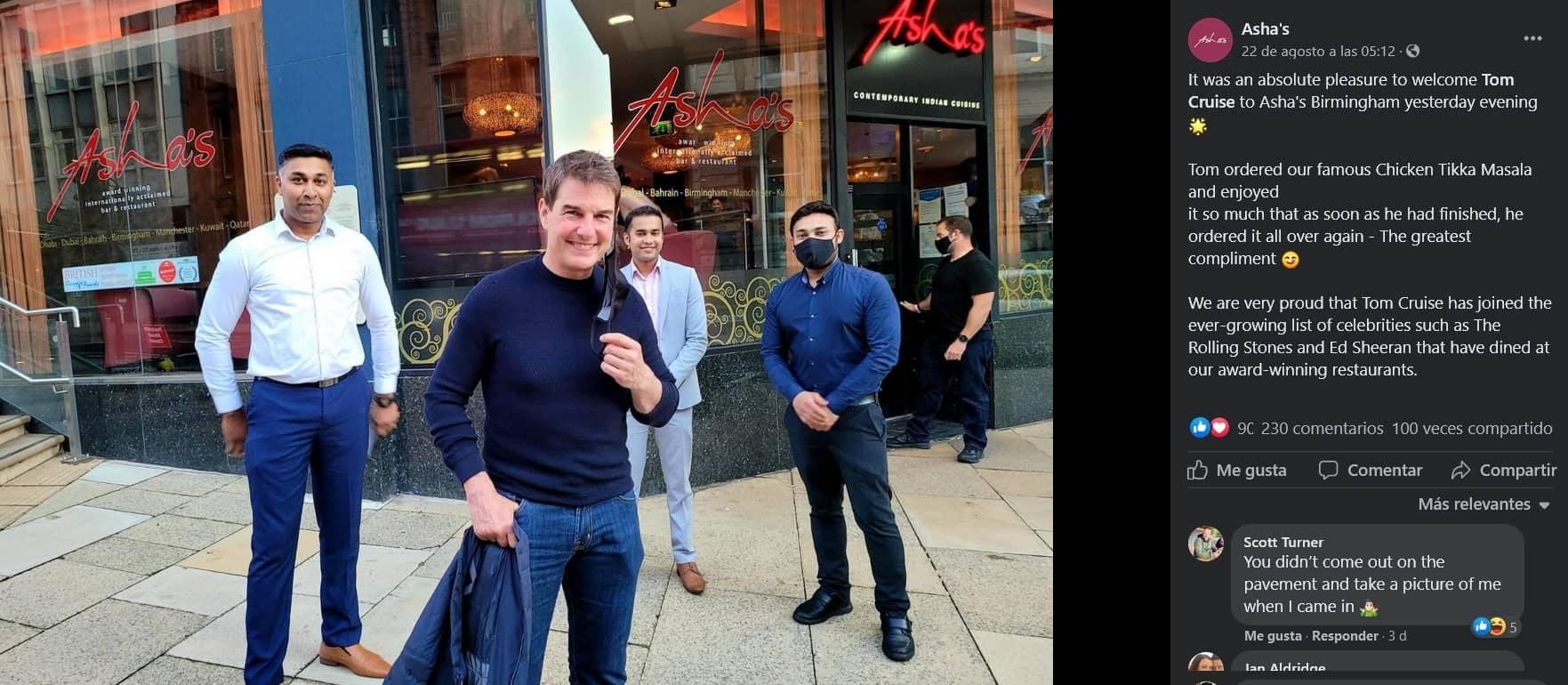 Tom Cruise sorprendió a los trabajadores de un restaurante